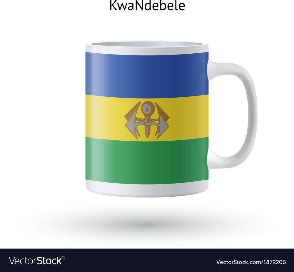 Kwandebele flag souvenir mug on white background vector | Price: 1 Credit (USD $1)