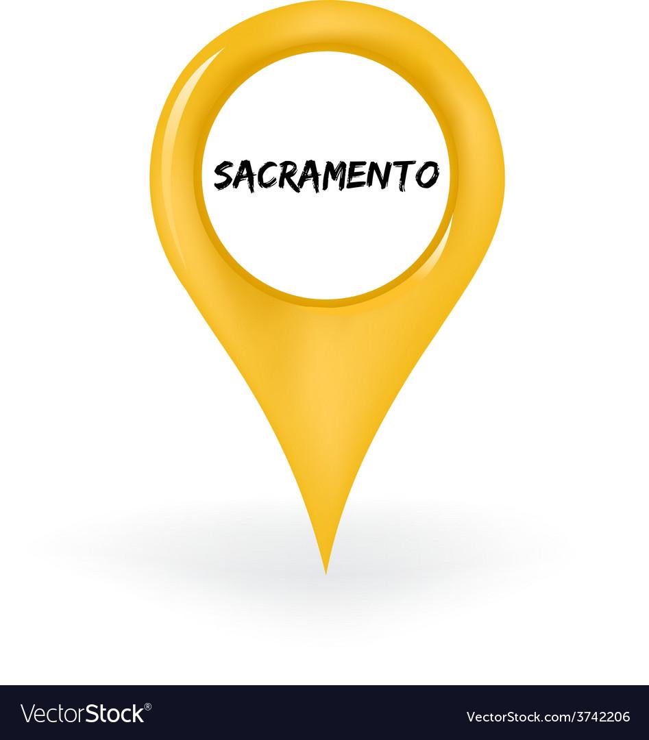 Location sacramento vector | Price: 1 Credit (USD $1)