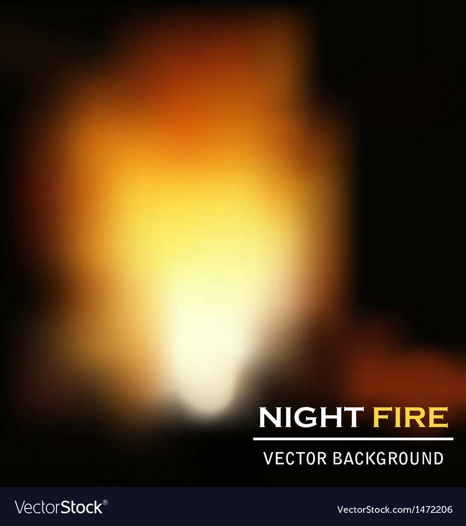 Night fire background vector | Price: 1 Credit (USD $1)