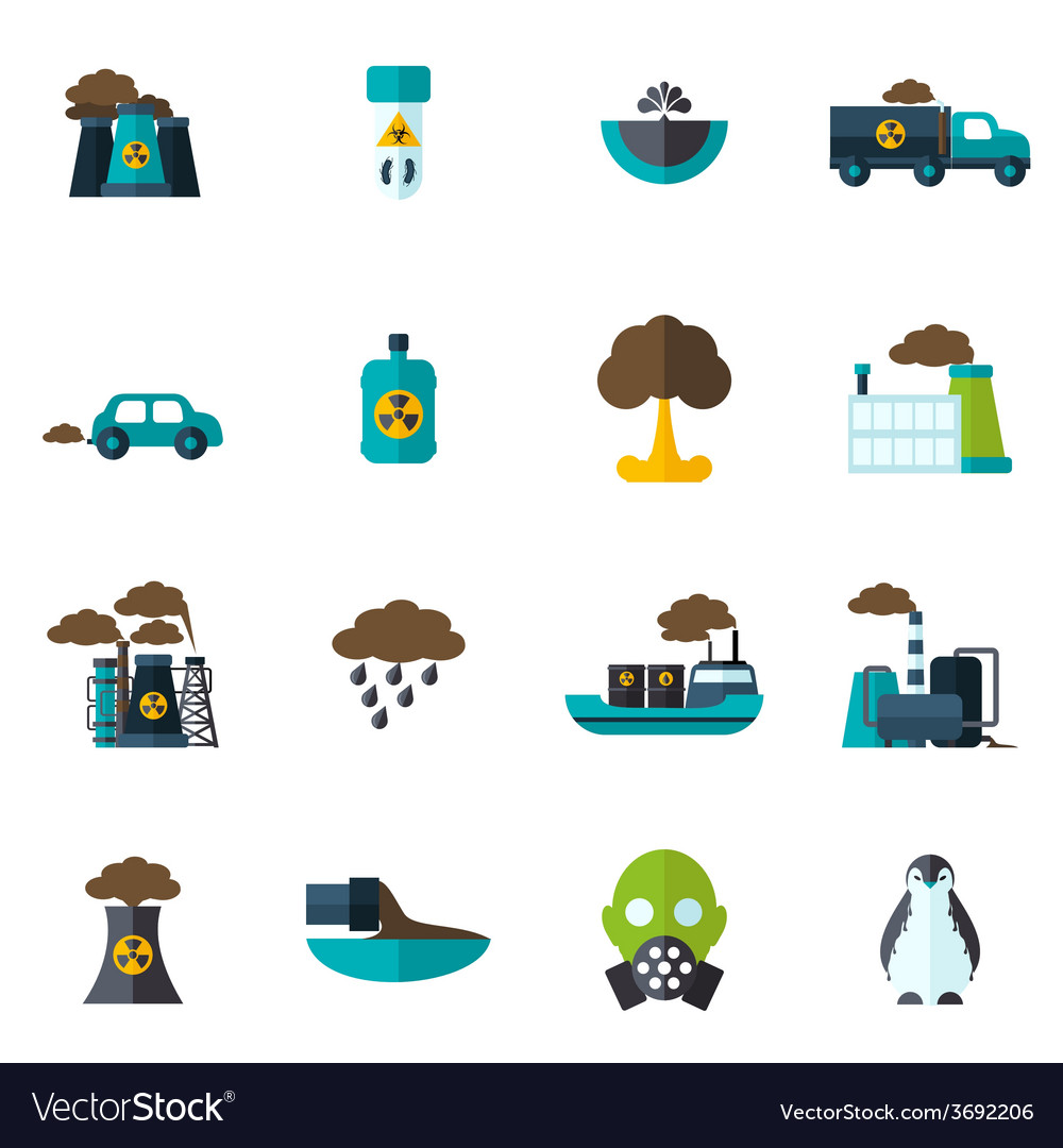 Pollution icon flat vector   Price: 1 Credit (USD $1)