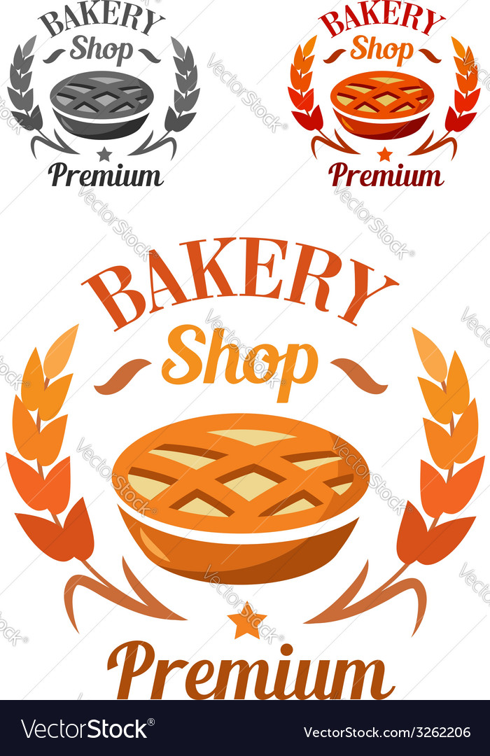 Premium bakery shop emblem or badge vector | Price: 1 Credit (USD $1)