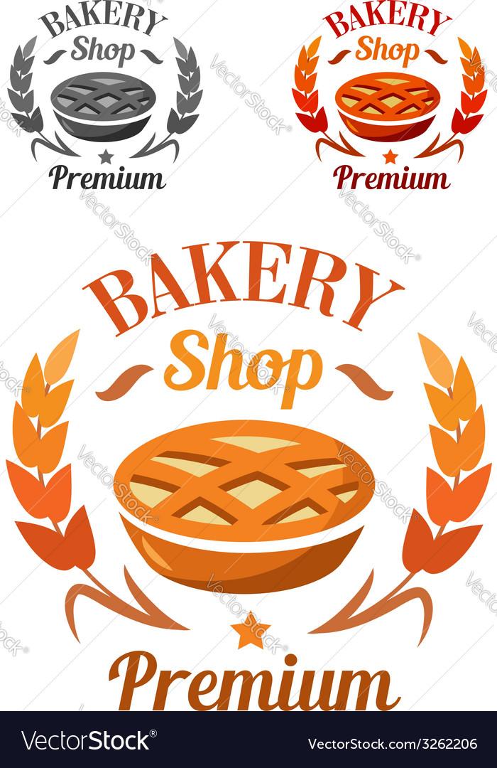 Premium bakery shop emblem or badge vector | Price: 1 Credit (USD $1)