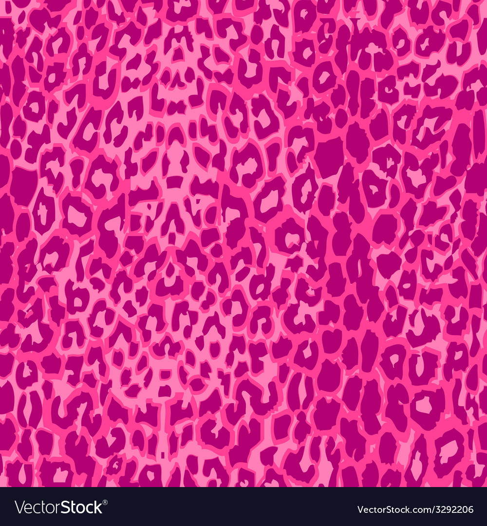 Seamless pink leopard texture pattern vector | Price: 1 Credit (USD $1)
