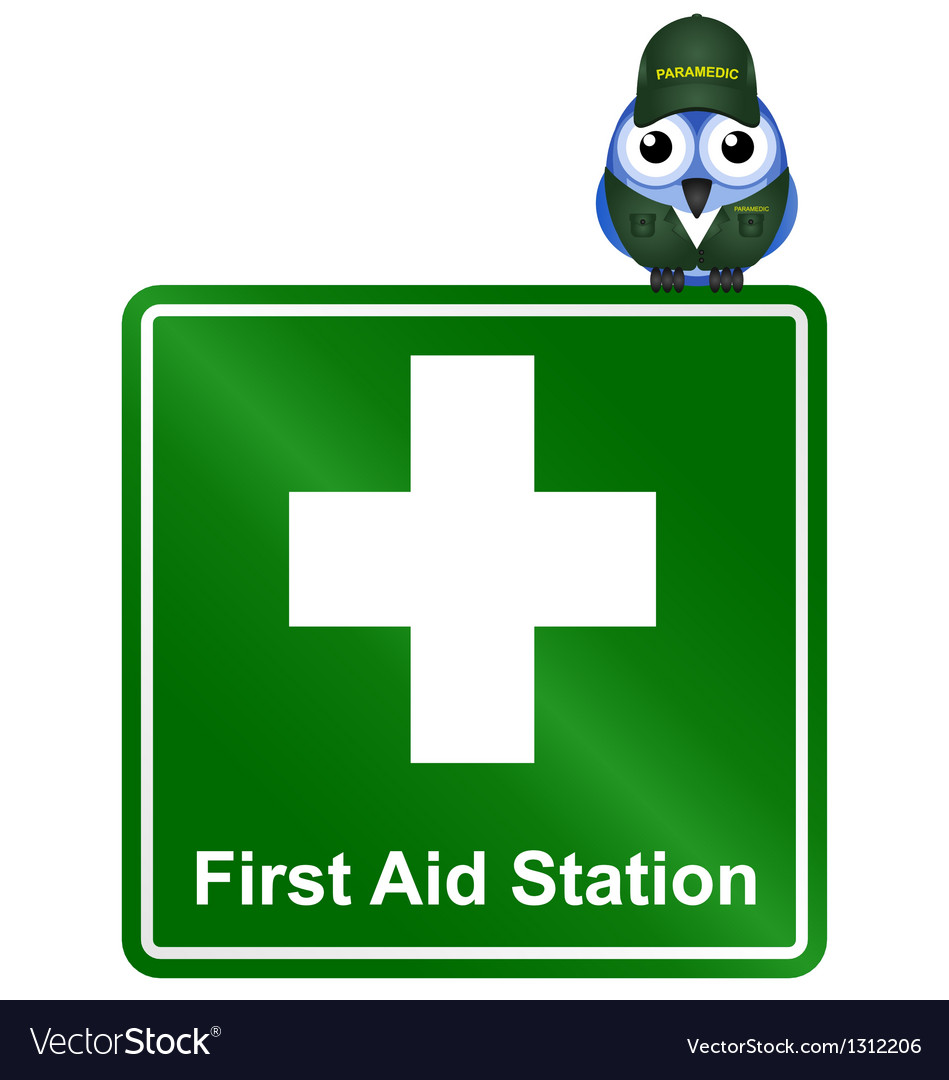 Sign first aid vector | Price: 1 Credit (USD $1)