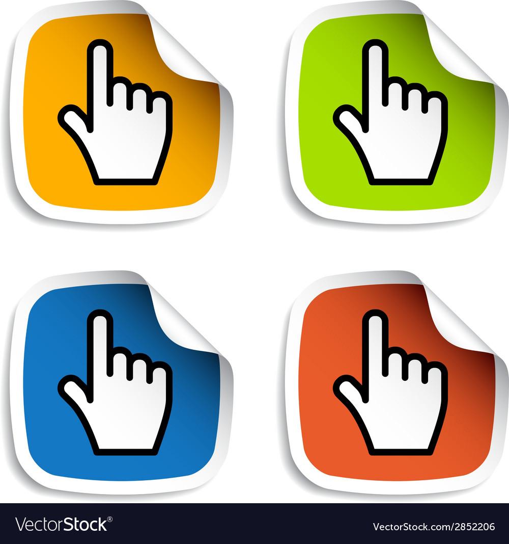 Smooth cursor hand stickers vector | Price: 1 Credit (USD $1)
