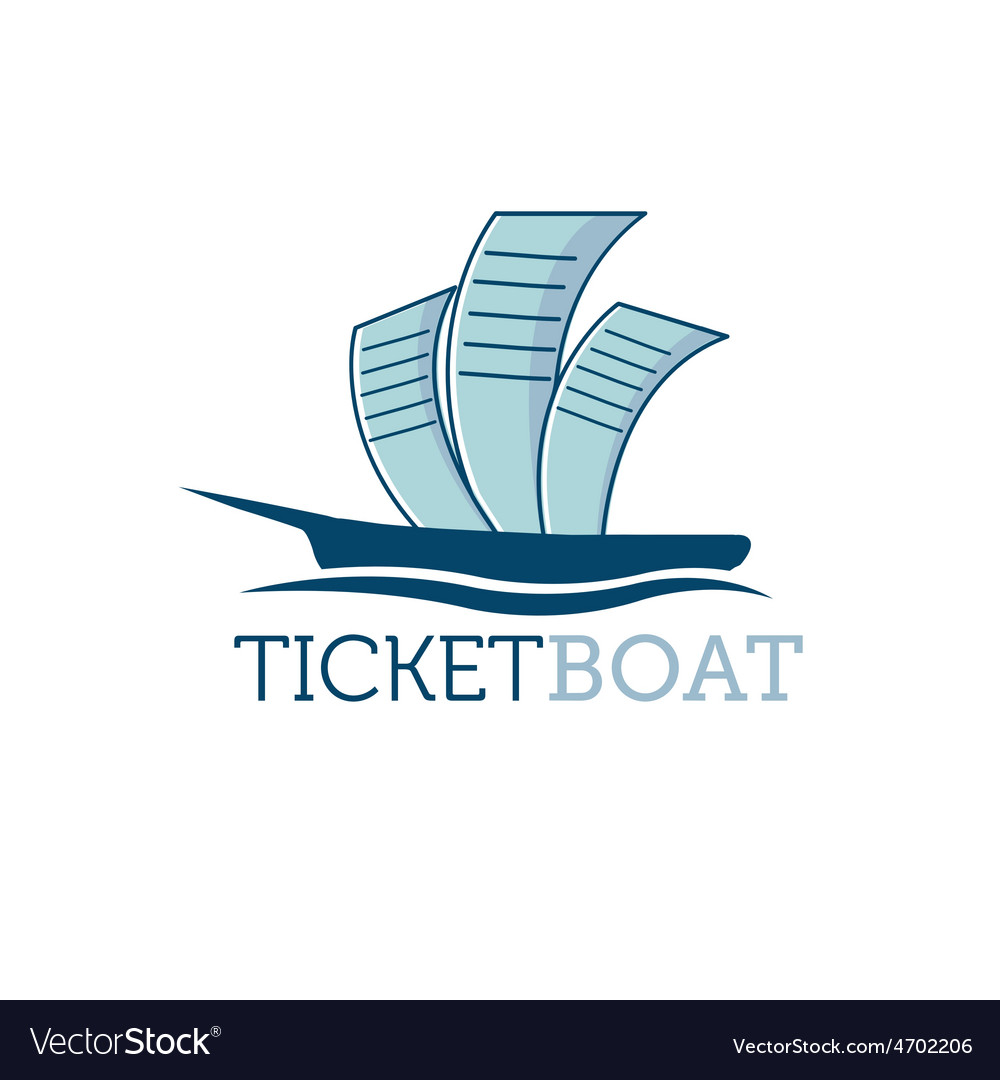Ticket boat vector | Price: 1 Credit (USD $1)