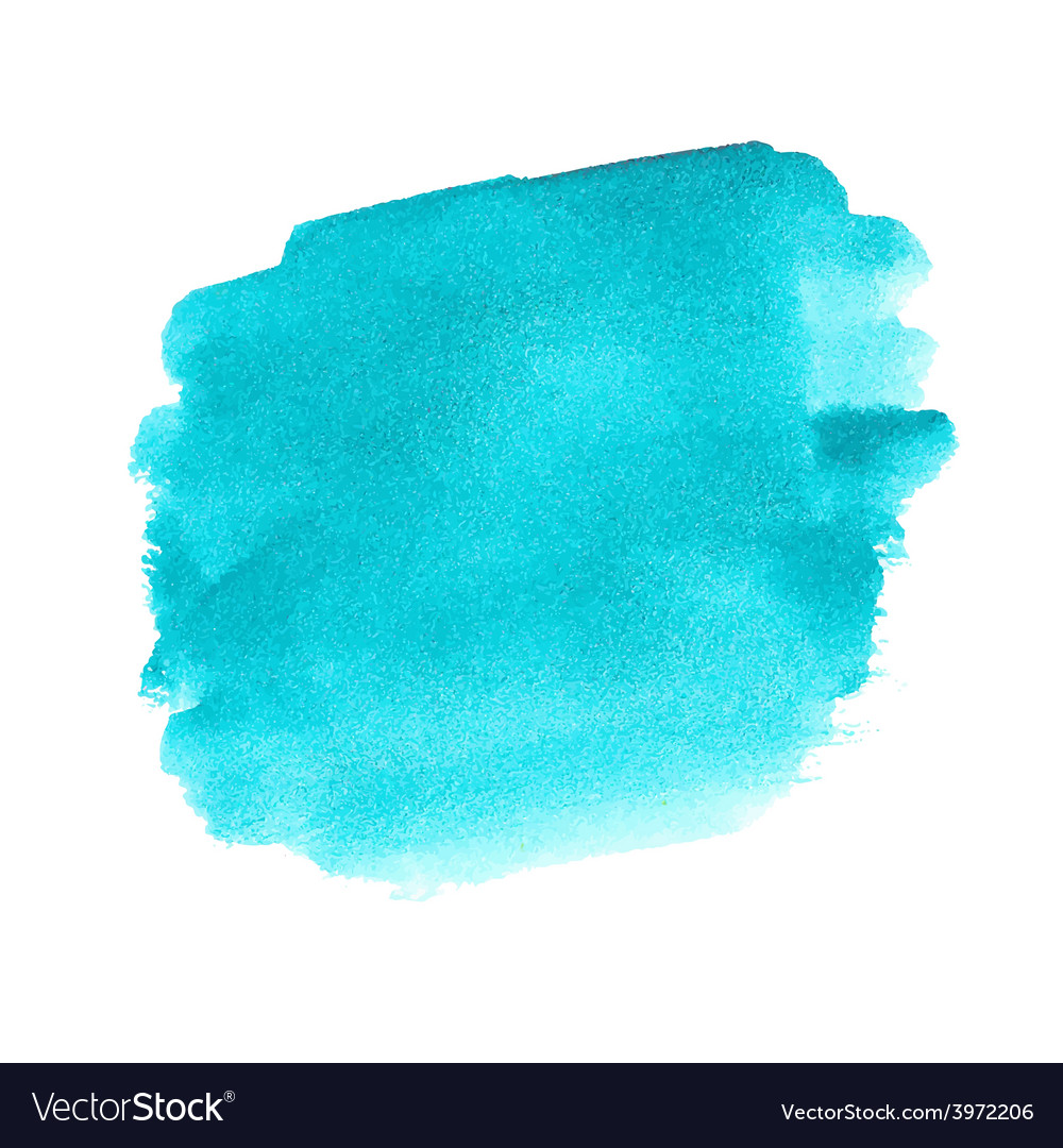Turquoise watercolor spot vector | Price: 1 Credit (USD $1)