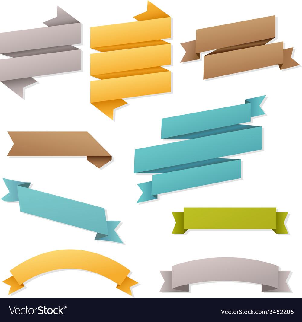 Web ribbons set vector | Price: 1 Credit (USD $1)