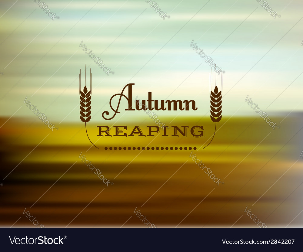 Autumn reaping vector | Price: 1 Credit (USD $1)