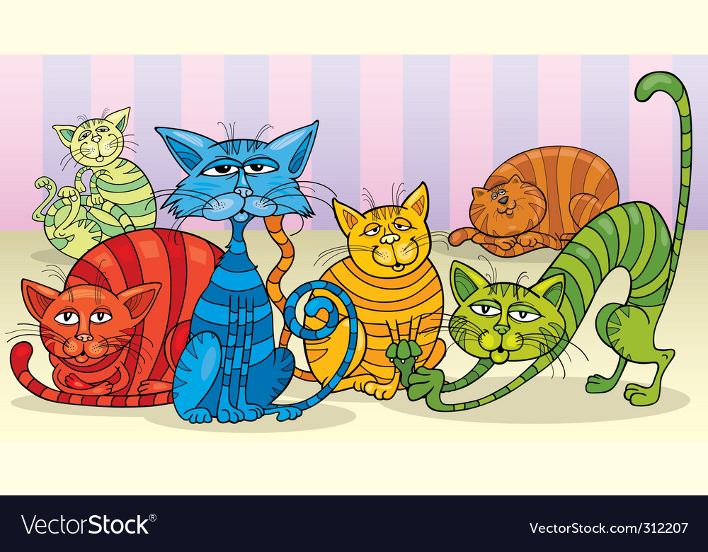 Cats group vector   Price: 3 Credit (USD $3)