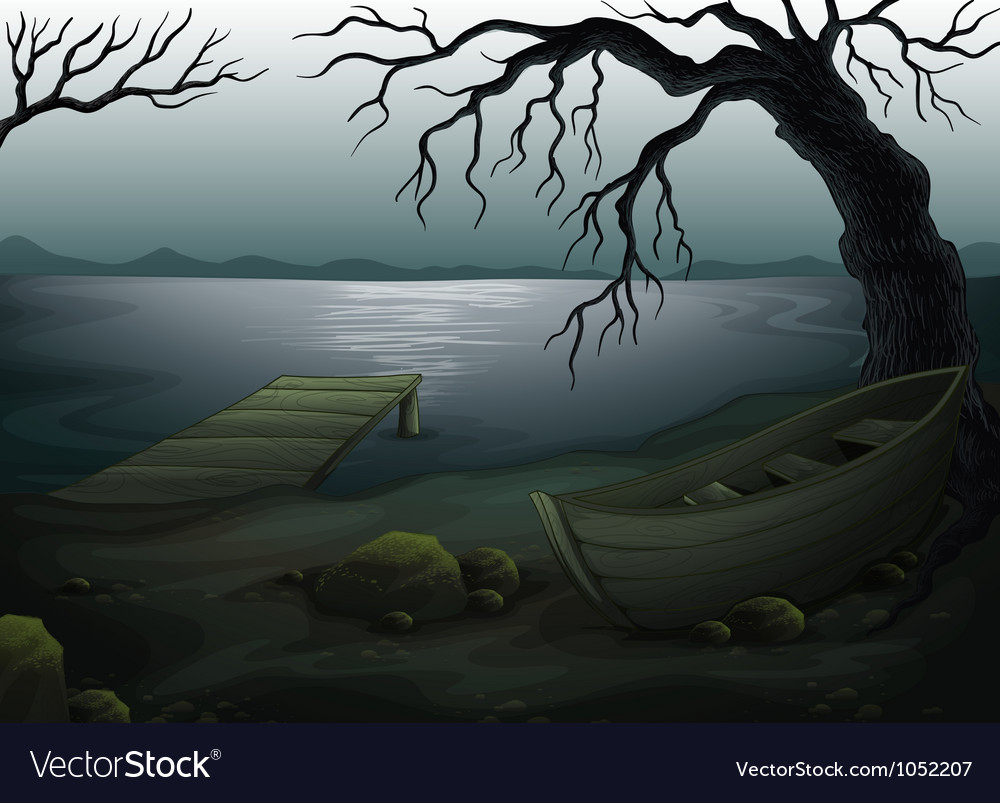 Cool creepy forest vector | Price: 1 Credit (USD $1)