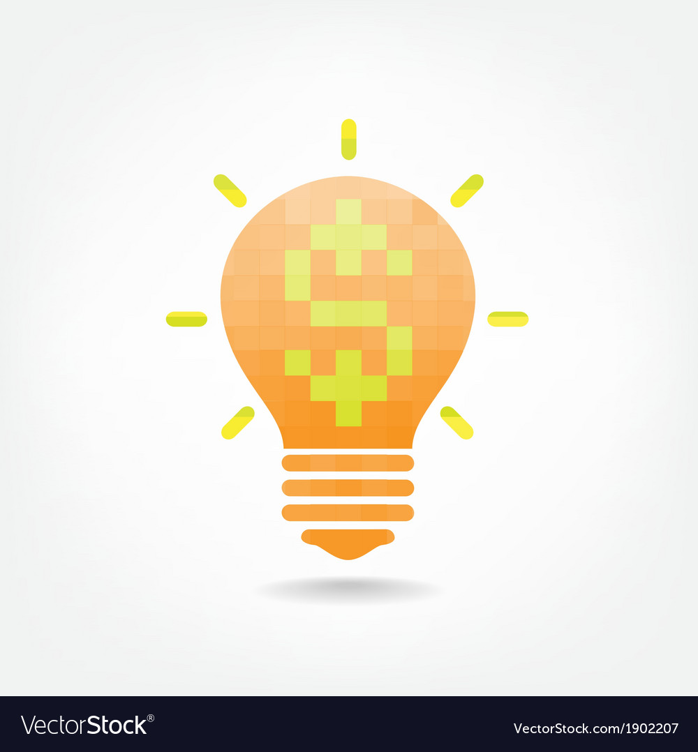 Creative light bulb symbol vector | Price: 1 Credit (USD $1)