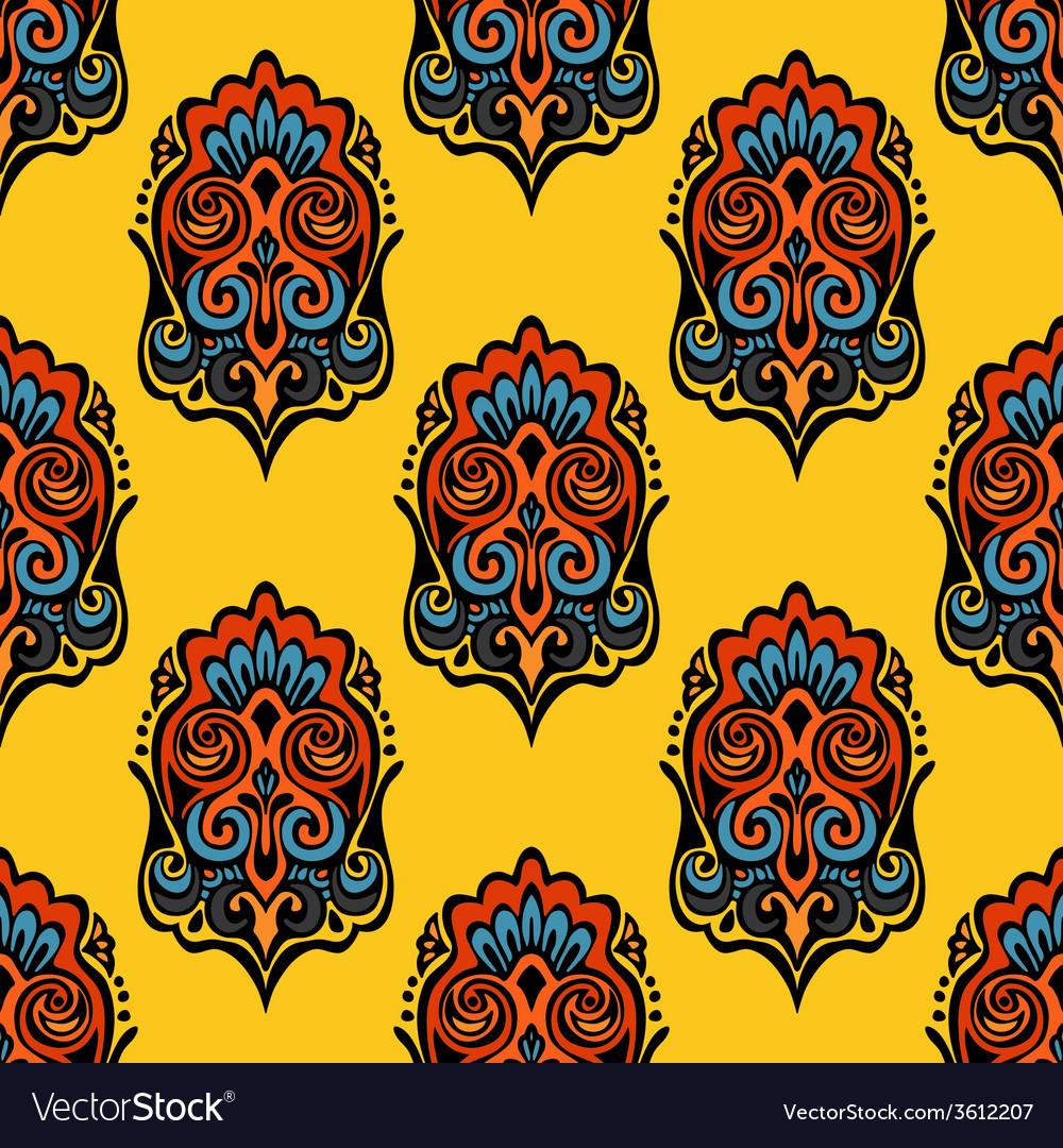 Damask seamless pattern festive vector | Price: 1 Credit (USD $1)