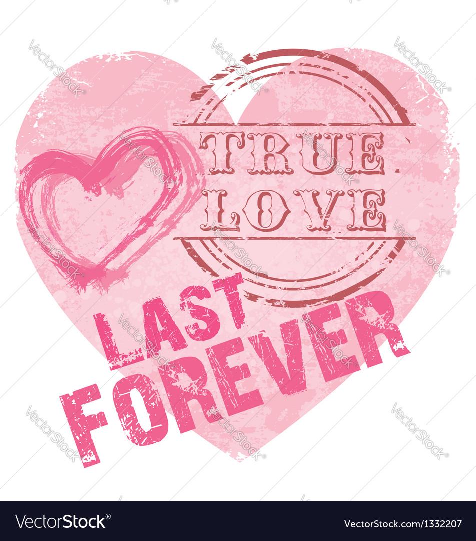 Heart shape true love vector | Price: 1 Credit (USD $1)