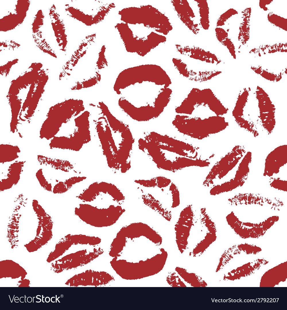 Red lips seamless pattern vector | Price: 1 Credit (USD $1)