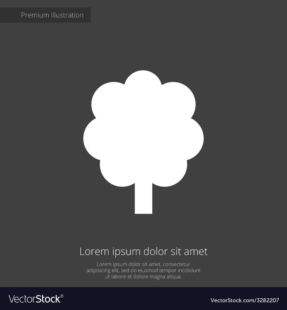 Tree premium icon white on dark background vector | Price: 1 Credit (USD $1)