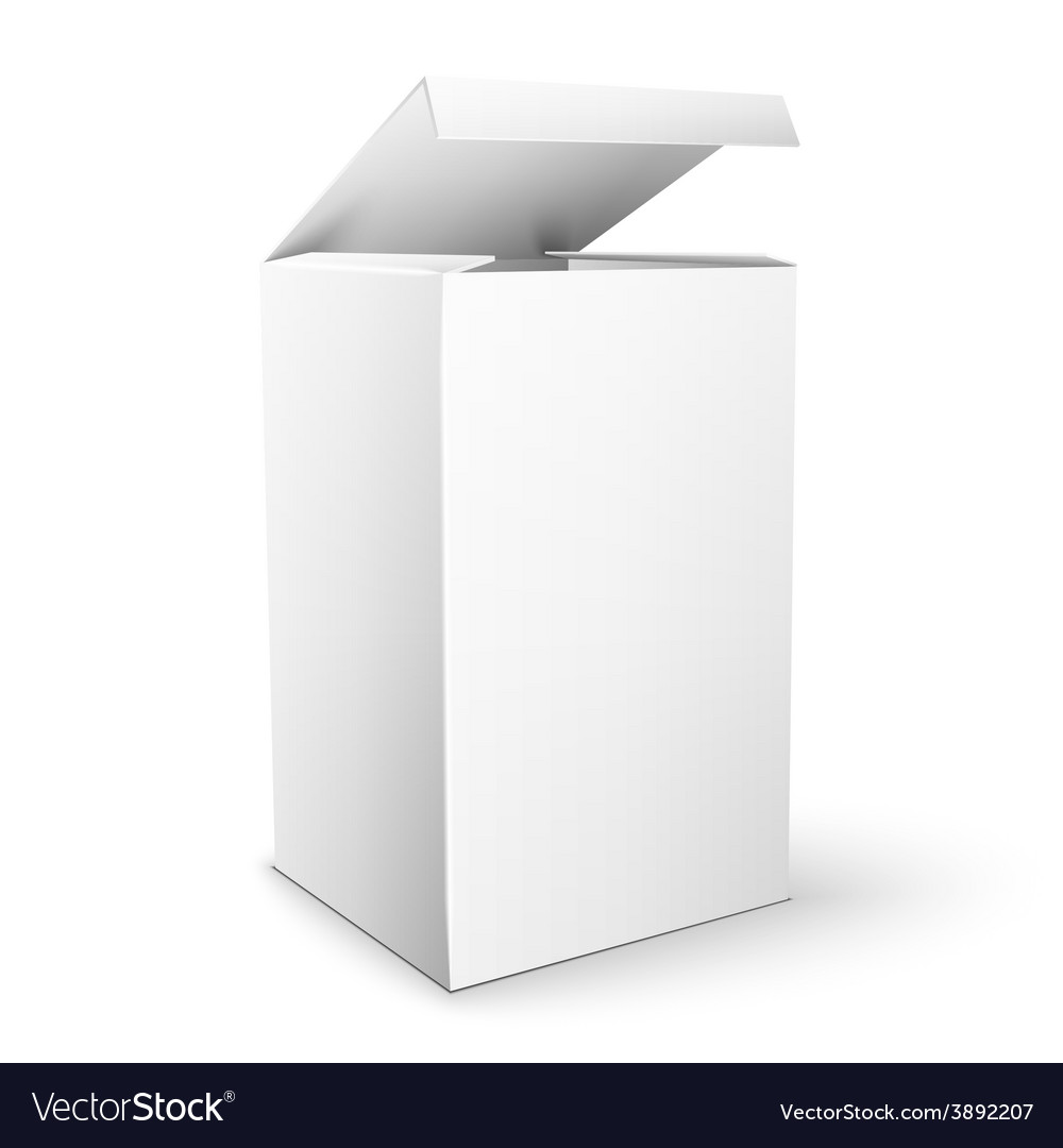 White product package box mock up template vector | Price: 1 Credit (USD $1)