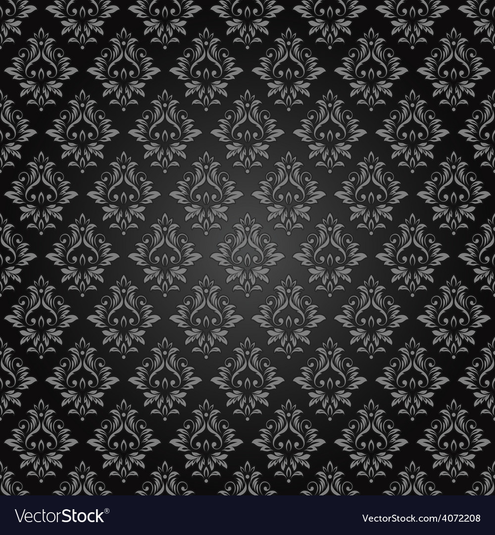 Abstract vintage seamless damask pattern vector | Price: 1 Credit (USD $1)