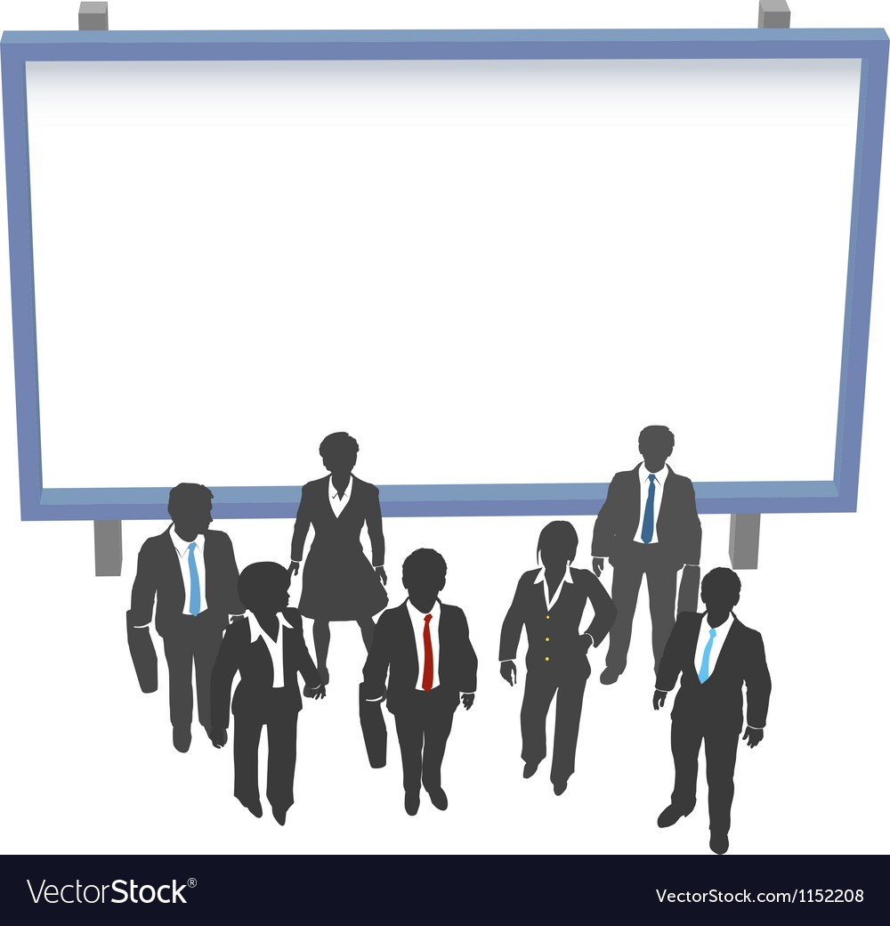 Business people sign front copyspace vector | Price: 1 Credit (USD $1)
