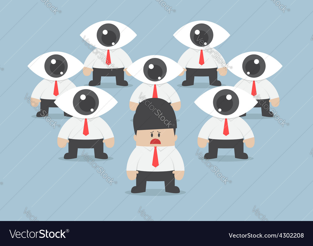 Businessman has been observed by eyeball head vector | Price: 1 Credit (USD $1)