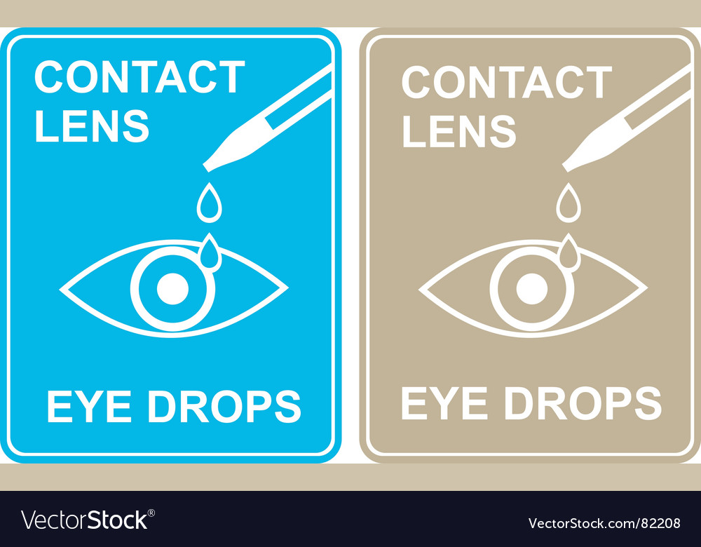 Contact lens eye drops vector | Price: 1 Credit (USD $1)