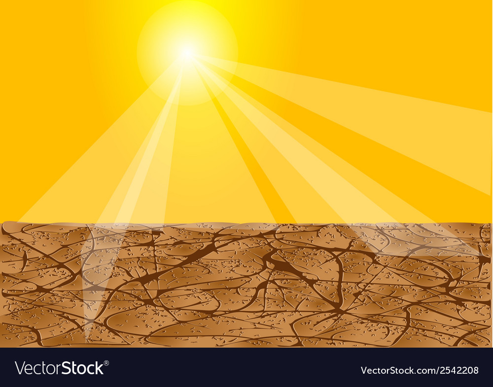 Drought africa vector | Price: 1 Credit (USD $1)