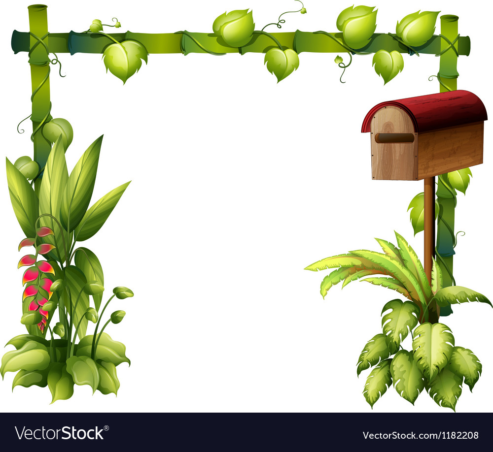 Floral mailbox vector
