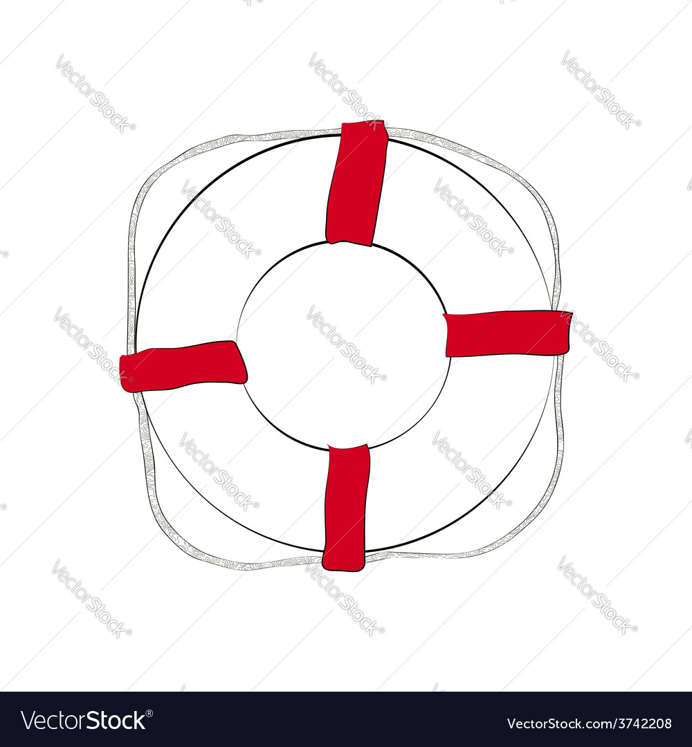 Life buoy sketch vector | Price: 1 Credit (USD $1)