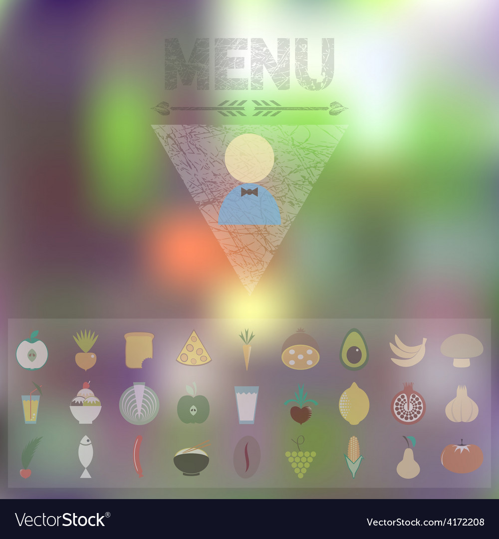 Menu of organic food vector | Price: 1 Credit (USD $1)