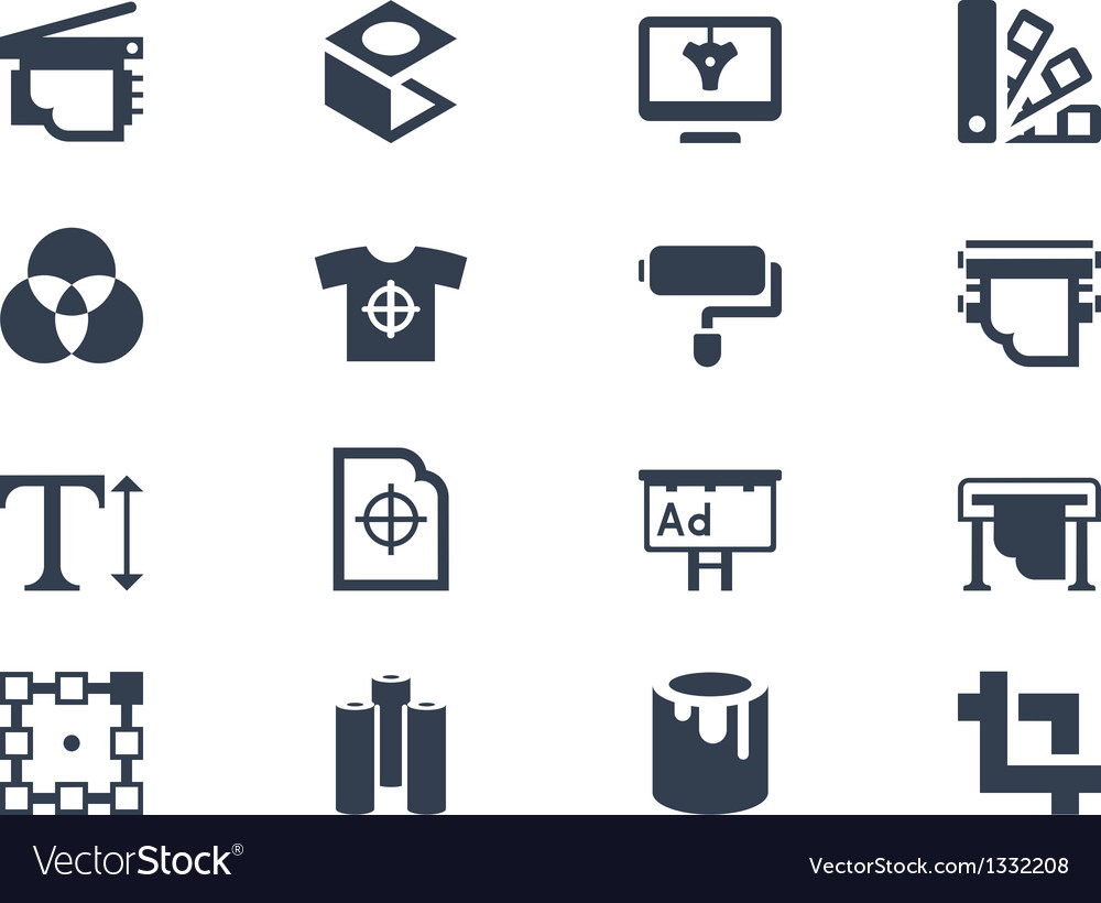 Printing icons vector | Price: 1 Credit (USD $1)