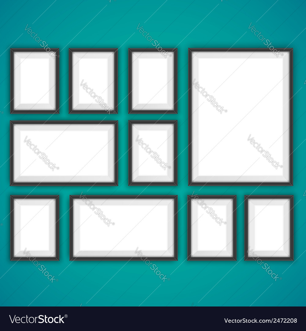 Realistic picture frames vector | Price: 1 Credit (USD $1)