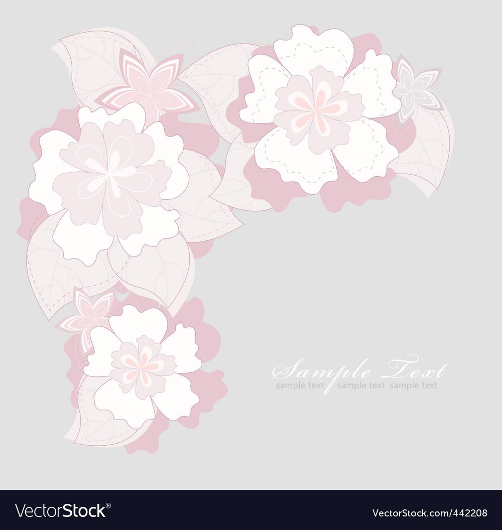 Romantic pink flower backgroundoun vector | Price: 1 Credit (USD $1)