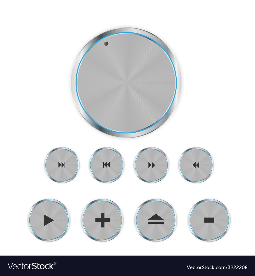 Shine glossy computer icon set vector | Price: 1 Credit (USD $1)