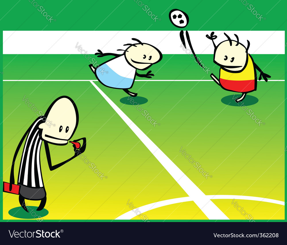 Soccer game vector | Price: 1 Credit (USD $1)