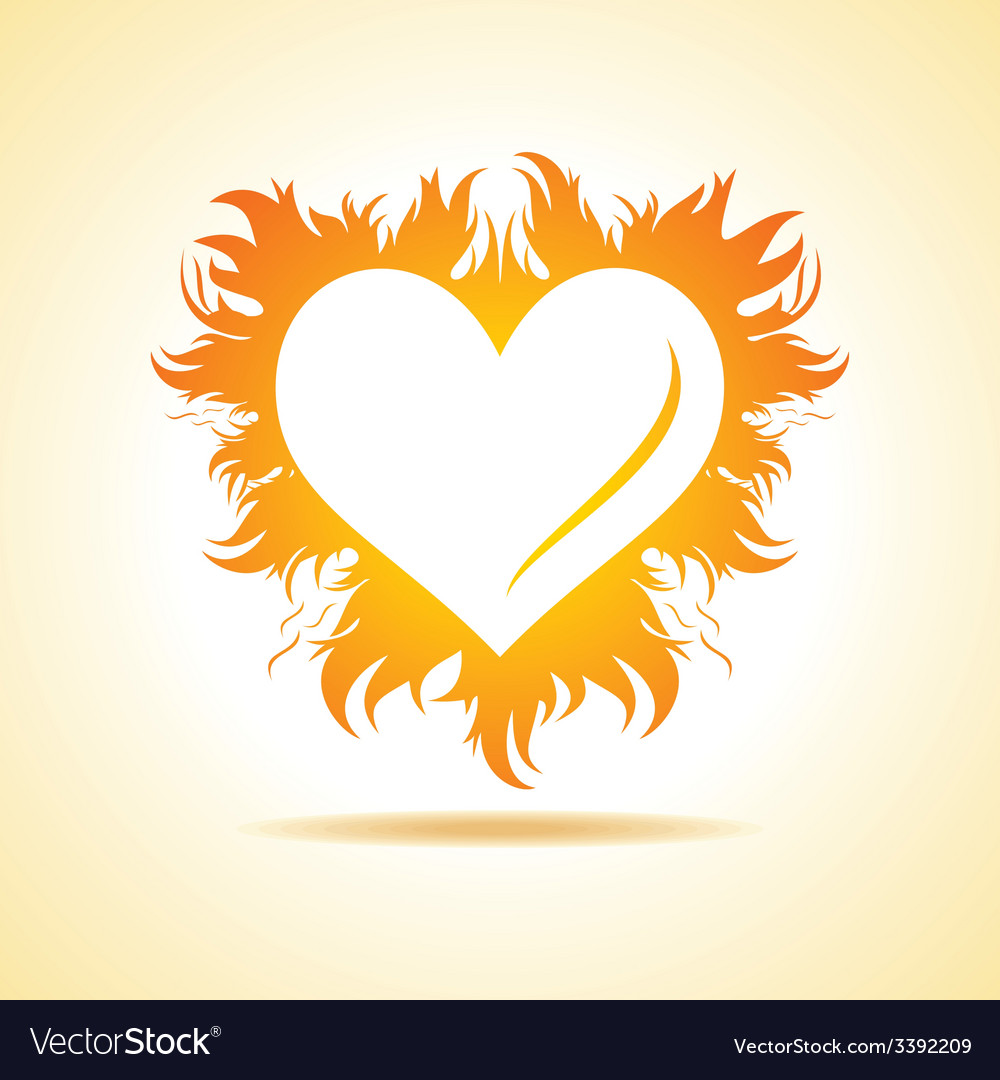Abstract valentine day card with fire heart vector | Price: 1 Credit (USD $1)