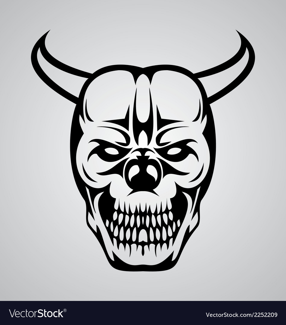 Devil skull tattoo vector | Price: 1 Credit (USD $1)