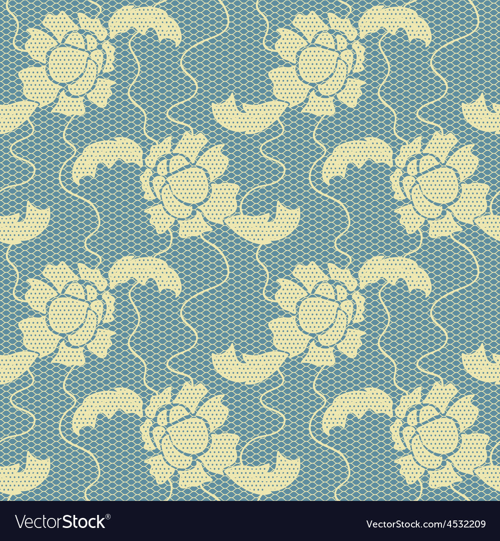 Gentle lace fabric seamless pattern vector | Price: 1 Credit (USD $1)