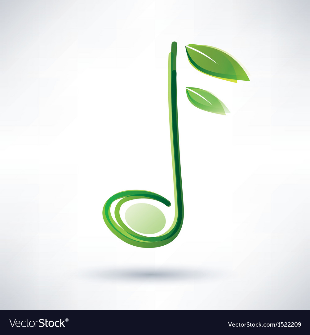 Green musical note abstract background vector | Price: 1 Credit (USD $1)