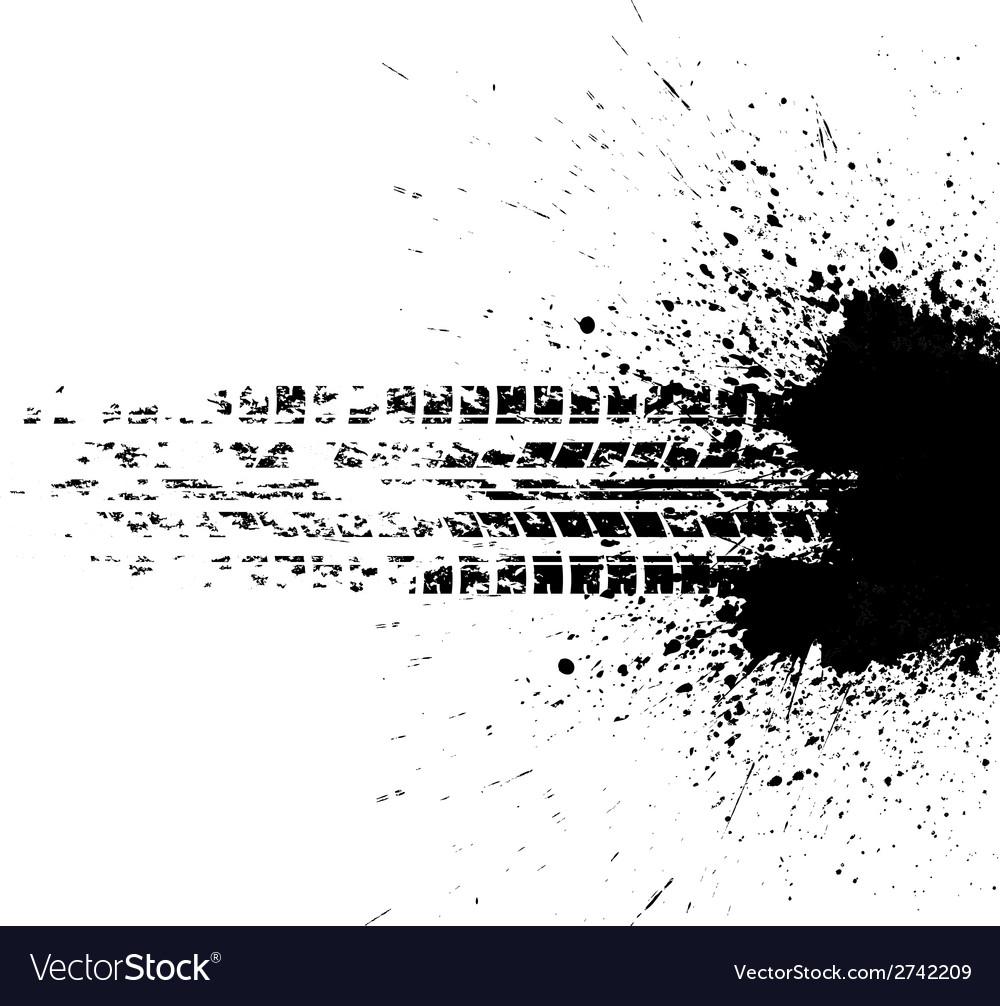 Tire track vector | Price: 1 Credit (USD $1)