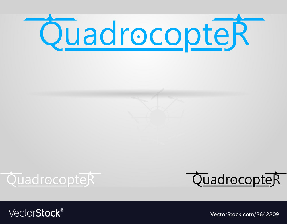 With word quadrocopter vector | Price: 1 Credit (USD $1)