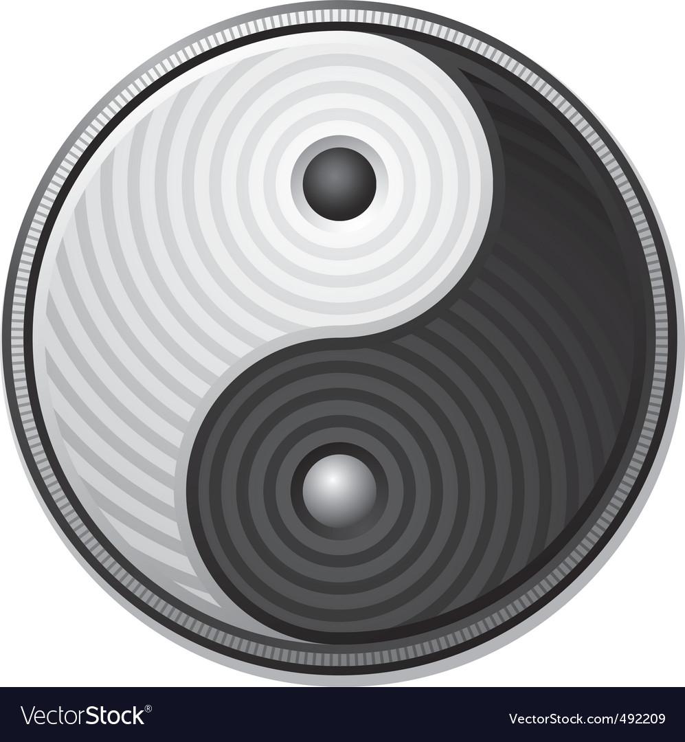 Yin yang symbol vector | Price: 1 Credit (USD $1)