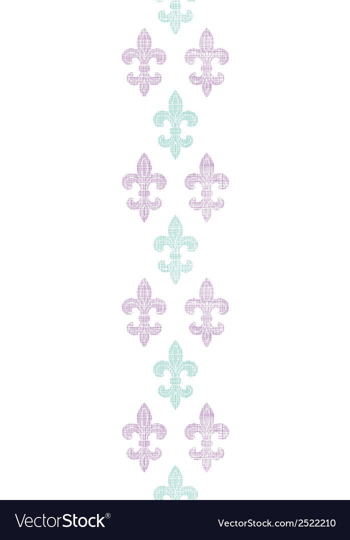 Abstract textile fleur de lis stripes vertical vector | Price: 1 Credit (USD $1)