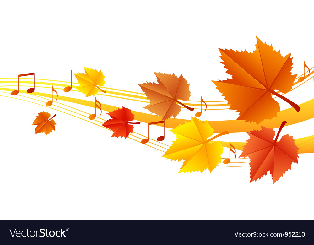 Autumn music vector | Price: 1 Credit (USD $1)