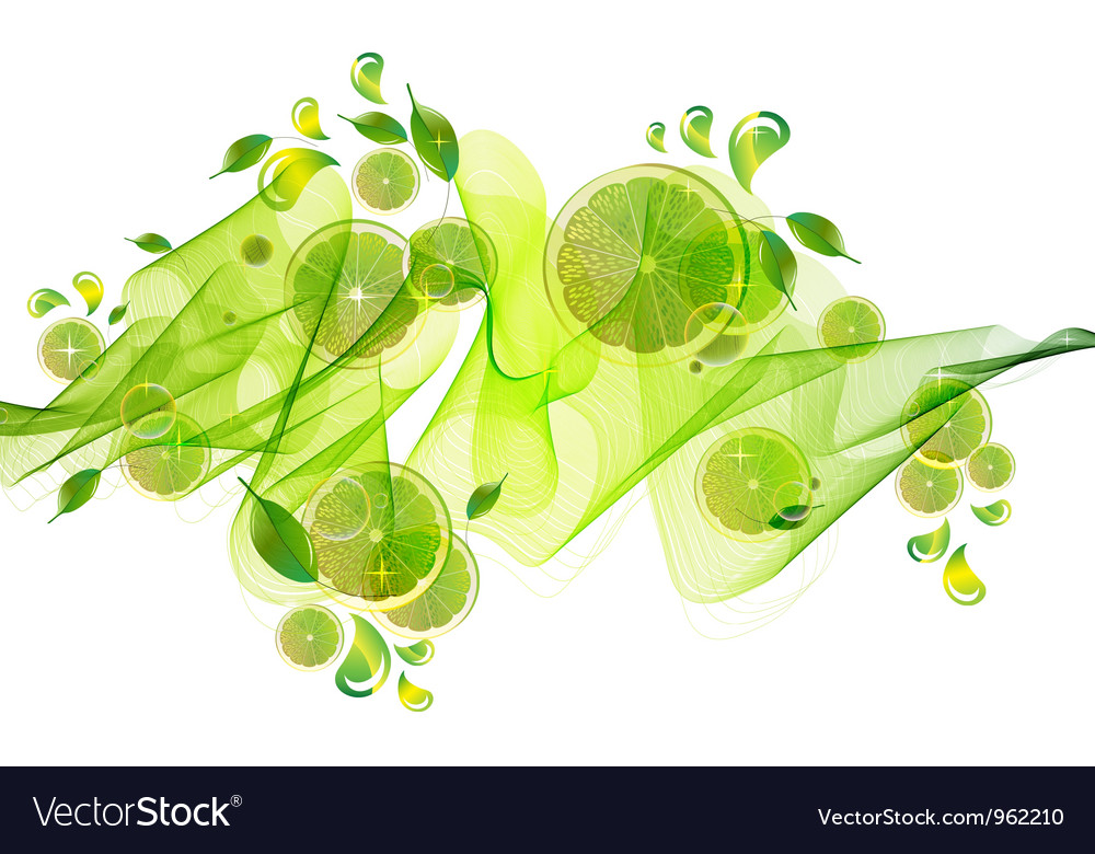 Citrus green abstract splash vector | Price: 1 Credit (USD $1)