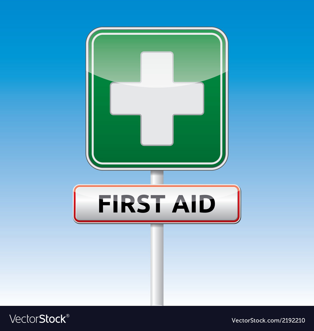 First aid traffic sign vector | Price: 1 Credit (USD $1)