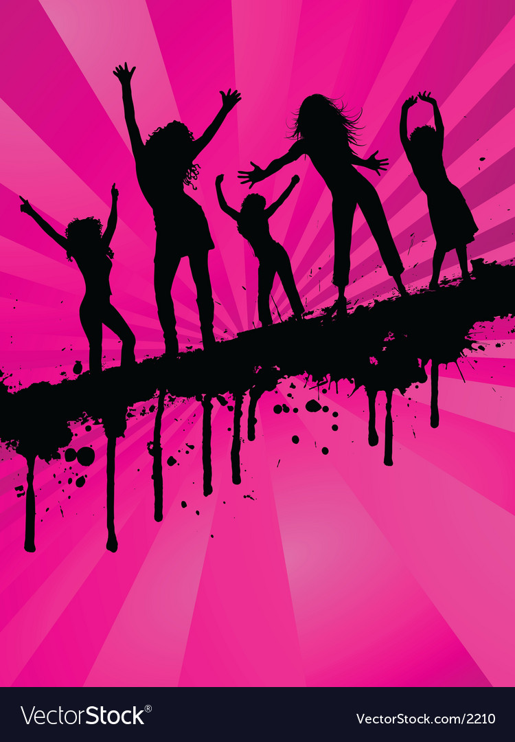 Grunge party girls vector | Price: 1 Credit (USD $1)