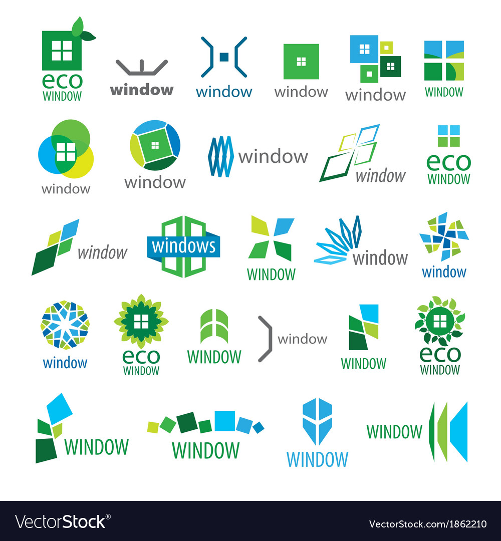 Large collection of logos window vector | Price: 1 Credit (USD $1)