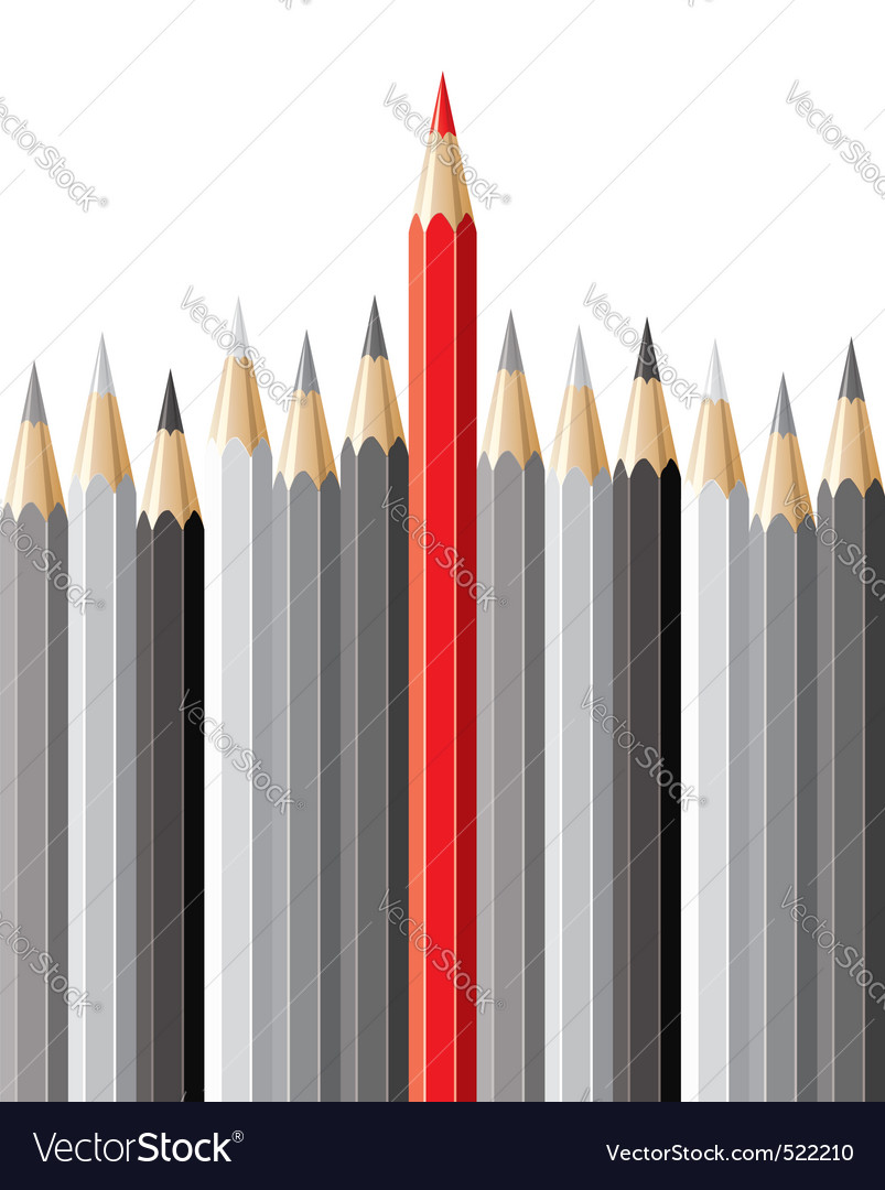 Pencils leadership concept vector | Price: 1 Credit (USD $1)