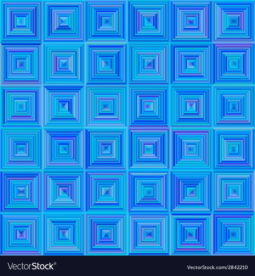 Seamless squared blue pattern vector | Price: 1 Credit (USD $1)