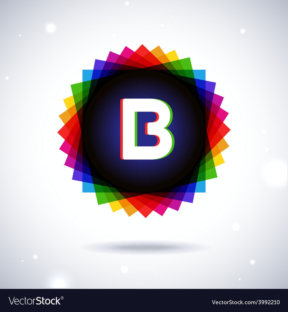 Spectrum logo icon letter b vector | Price: 1 Credit (USD $1)